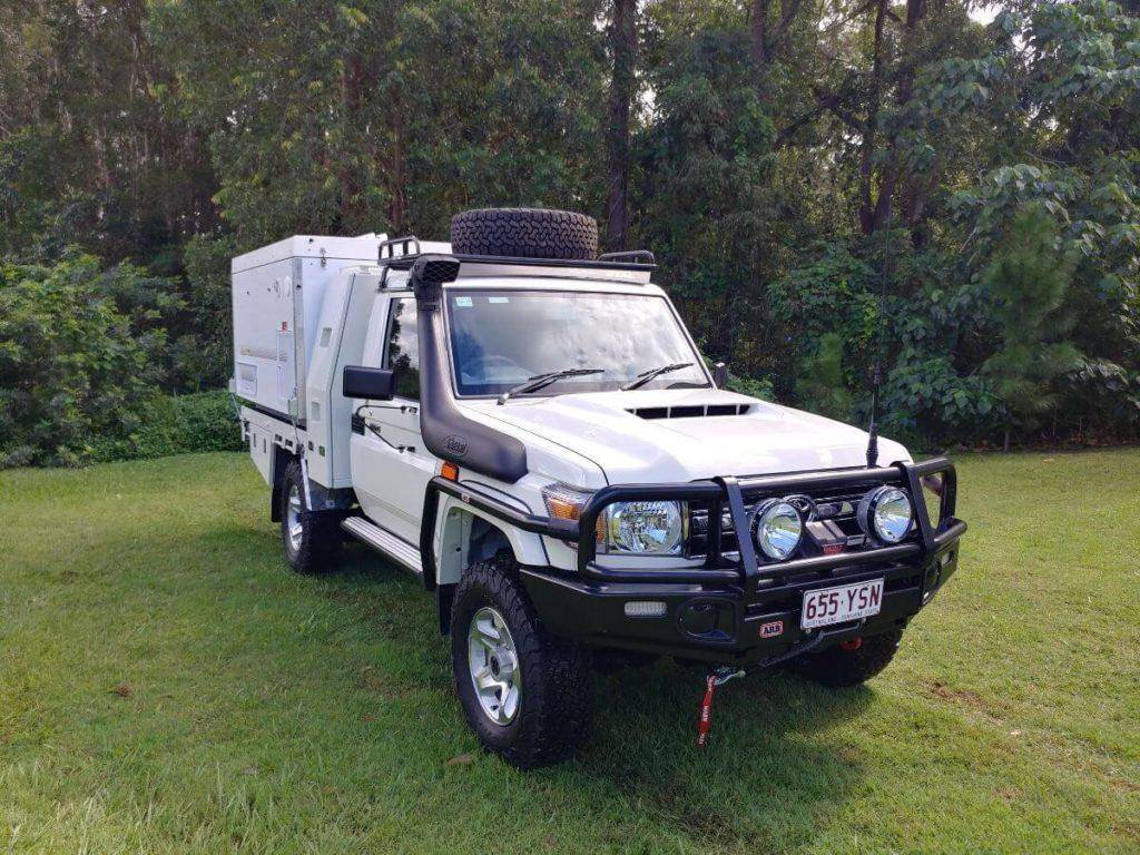 4x4 Expedition Vehicle - Slide On Camper Gullwing Toyota Landcruiser 79 Series