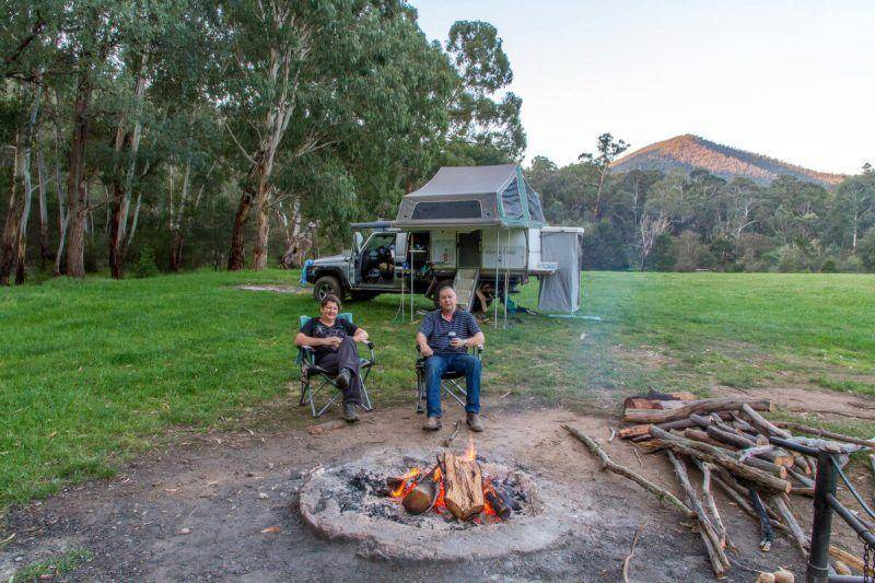 Talbotville camping area campgrounds - Victorian High Country Old Gold Mining Town