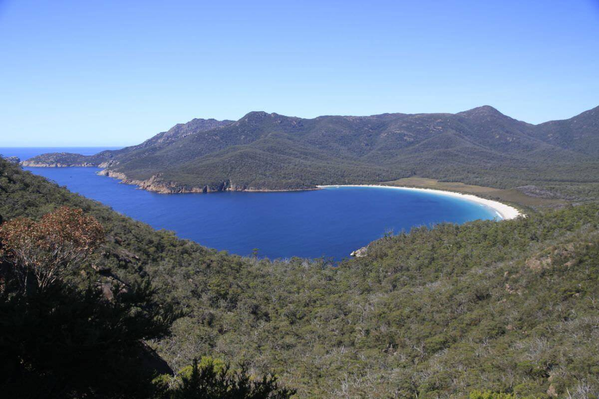 Freycinet Peninsula East Coast of Tasmania the famous wineglass bay.
