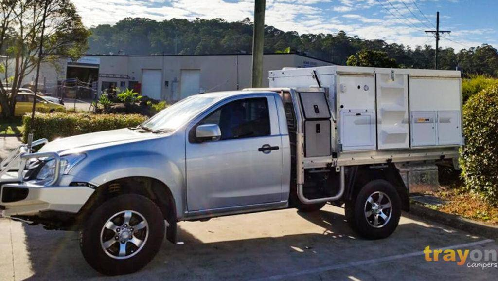 Single Cab 2018 Isuzu Dmax 4x4 ute with Trayon Slide on Camper