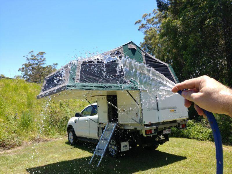 Waterproofing Canvas Tents - Watering