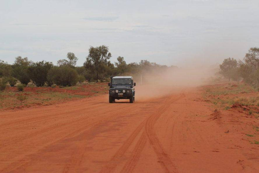 Hay RIver Track Jervois Station to Poeppels Corner Dirt Road Trayon Campers. Simpson Desert.