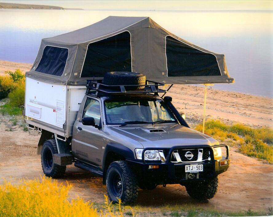 Trayon Campers - Nissan Patrol Slide On Camper At Beach