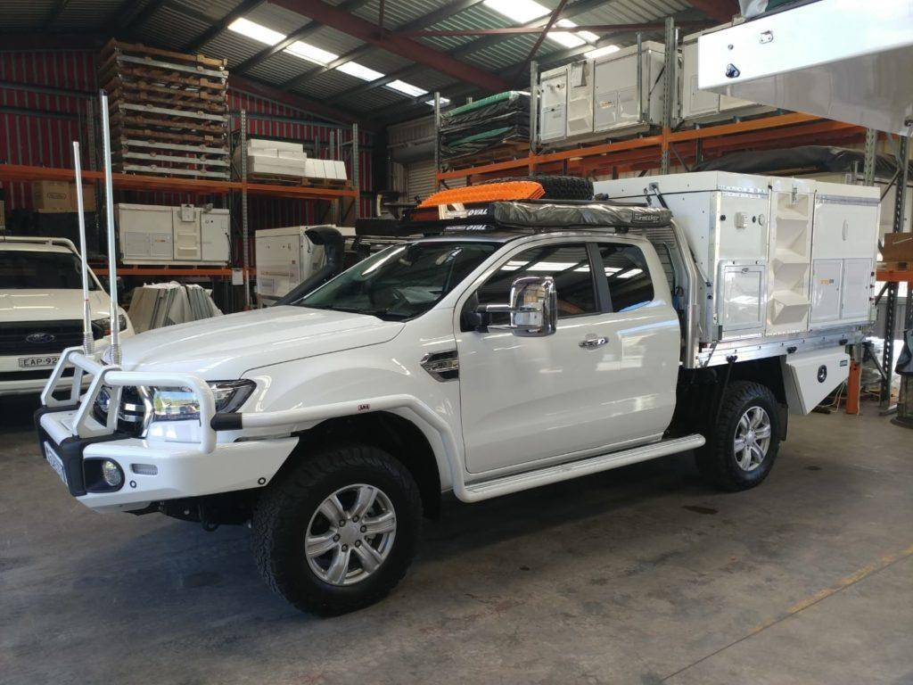 Ford Ranger Extra Cab Trayon Slide On Camper ARB, Roof Racks Brush By Bull Bar