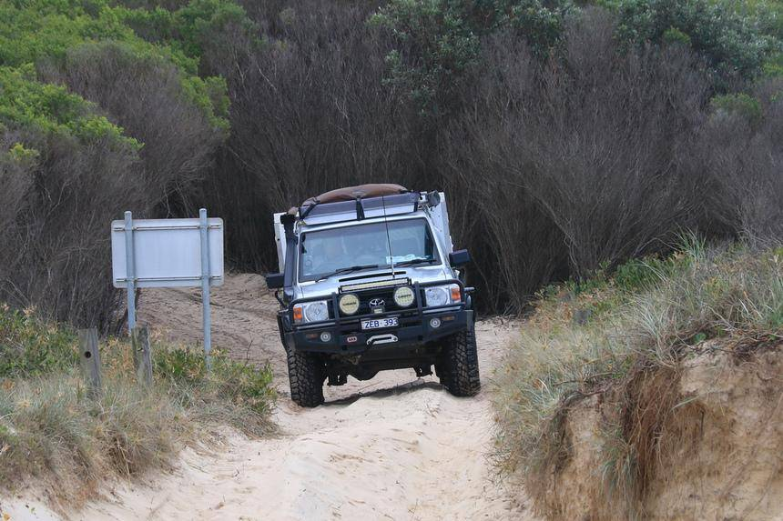 Crowdy Bay National Park NSW - Beach Accesses 79 Series Landcruiser, 70, sandy