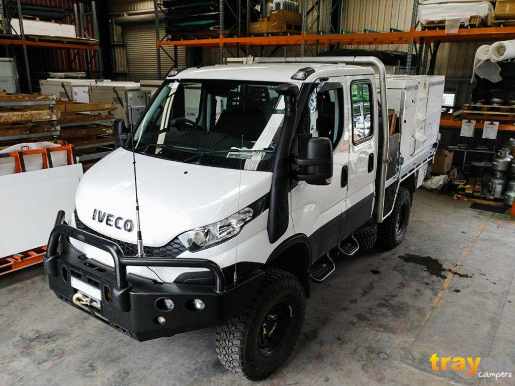 Dual Cab Iveco Daily 4x4 Review with Trayon Slide on Camper in Factory
