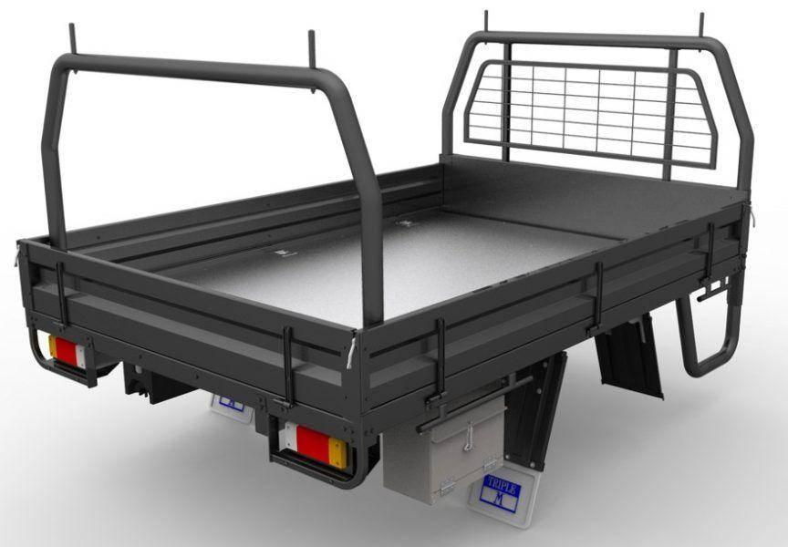 Image of slide on camper manufacturer triple M ute tray
