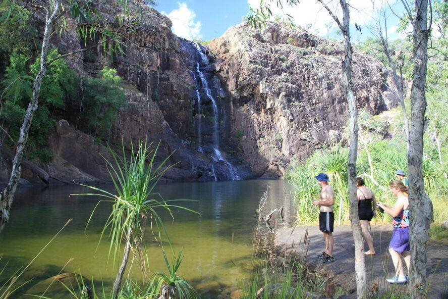 Kakadu National Park - Camping Trayon Slide Campers, Gumlom Falls and Camping Area