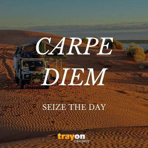 Carpe Diem Motivation Quote - Seize The Day - Camping Adventure