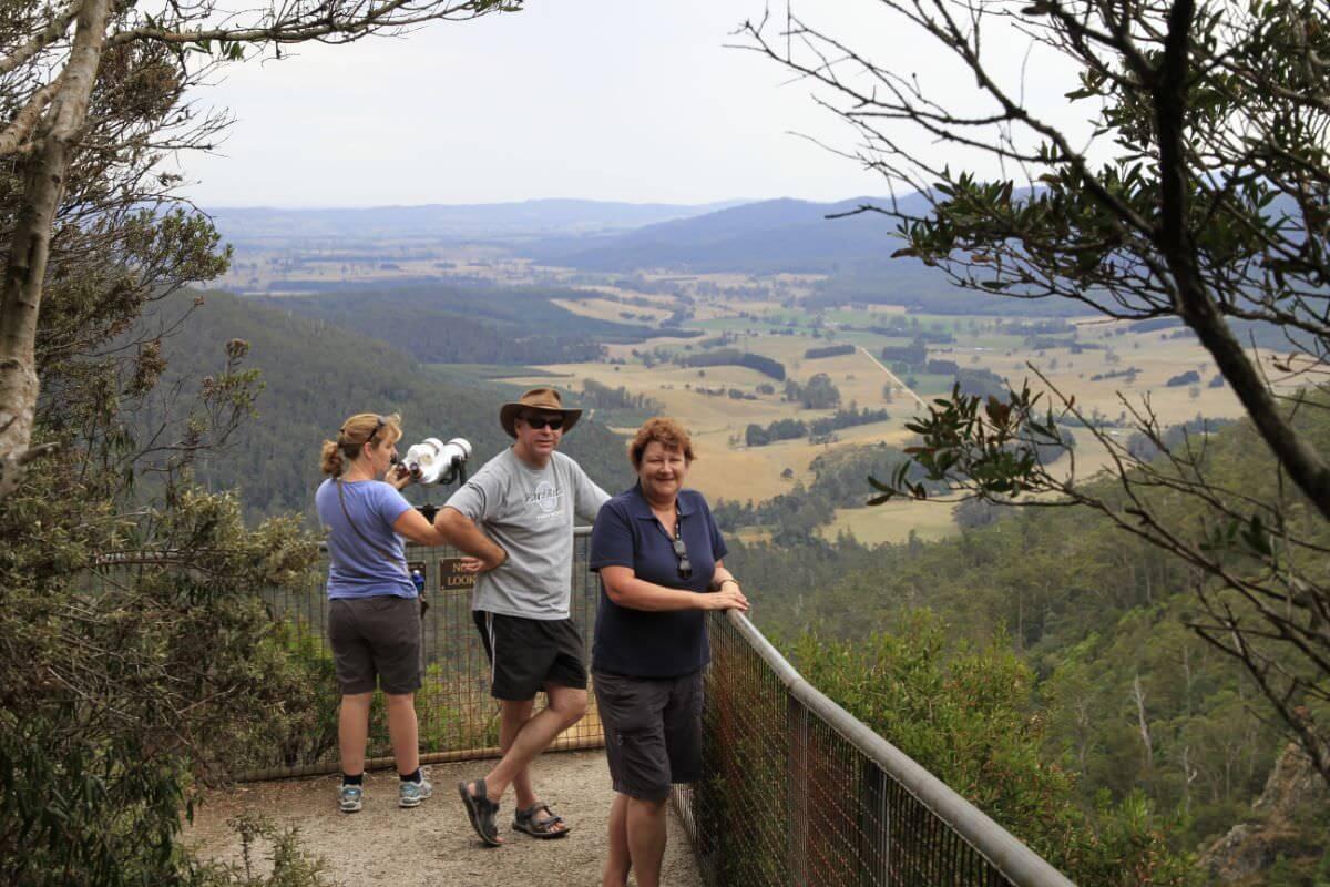 Ralph Falls lookout tasmania's east coast.