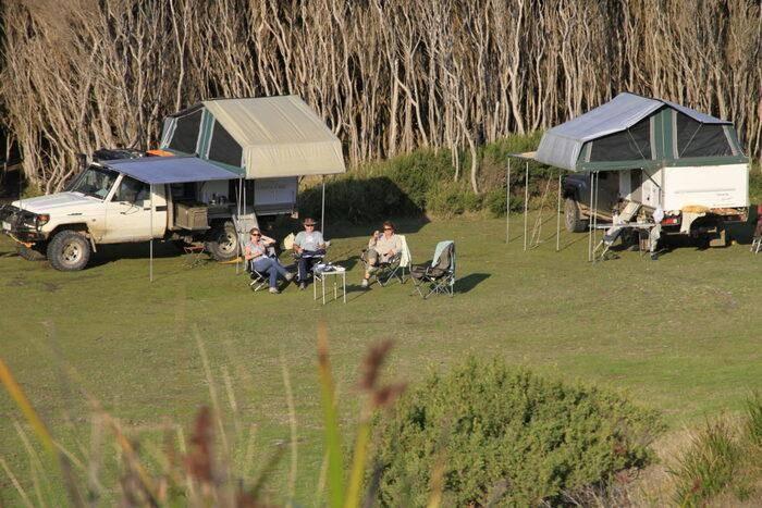 West Coast of Tasmania Arthur Pieman Conservation Area. Camp Elsewhere. Toyota Landcruiser Camping.