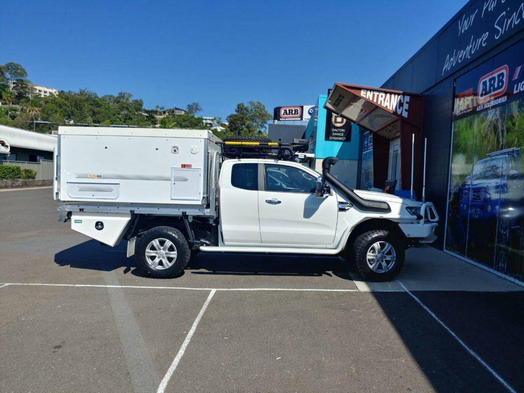 Ford Ranger Extra Cab Trayon Slide On Camper ARB, Roof Racks Brush By Bull Bar aluminium tray snorkle