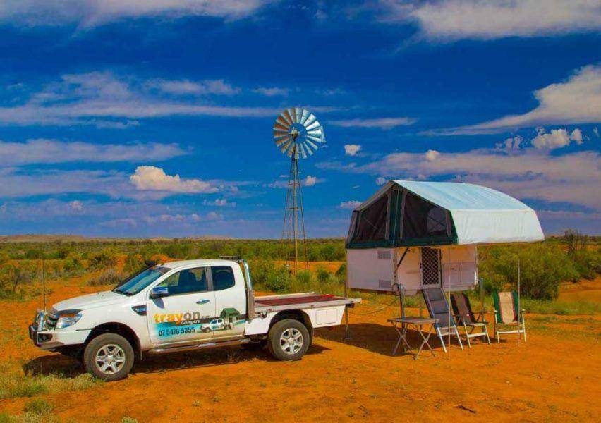 What is a slide on camper - Trayon Slide on camper  Windmill. 4X4 Ford ranger Super Cab with Aluminium Tray. Camping in the Australian Outback.