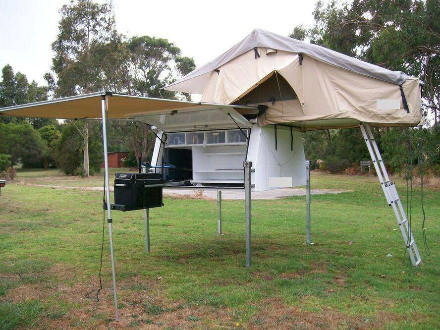 slide on Aluminium ute canopies with roof top tent