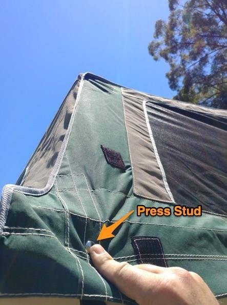 Waterproofing Canvas Tents - Press stud and stretching