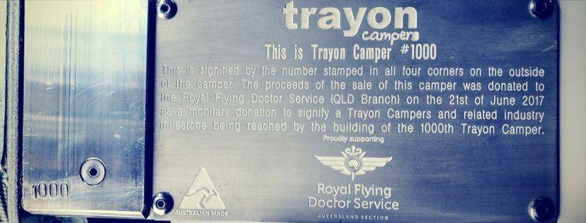 Trayon #1000 Plaque - Royal Flying Doctors Service