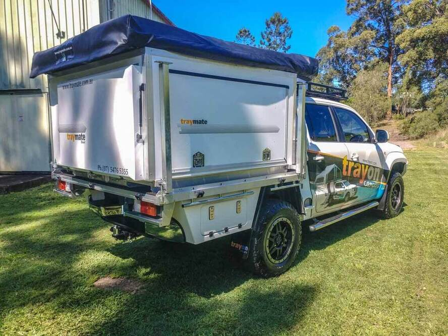 Tray Mate Campers - Aluminium Ute Slide on Canopy, roof top tent, aluminium ute canopy manufacturers