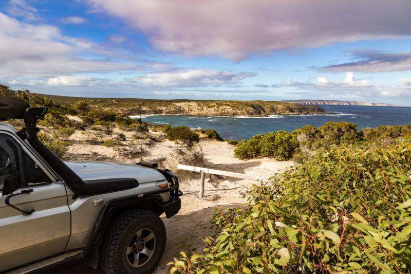 Memory Cove Wilderness Area - Lincoln National Park Views of Cape Catastrophe. Landcuiser - Eyre Peninsula