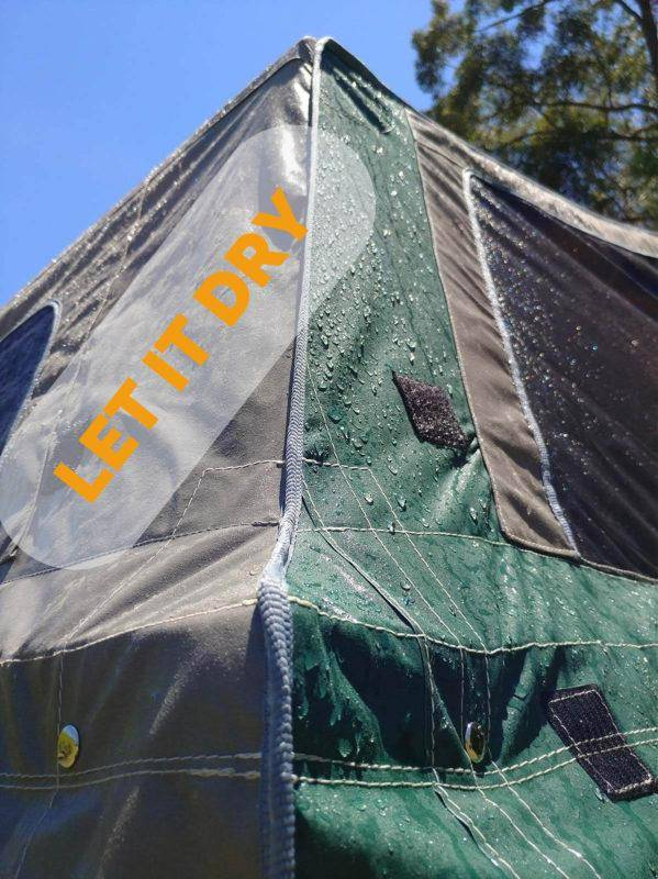 Waterproofing Canvas Tents - Let it dry