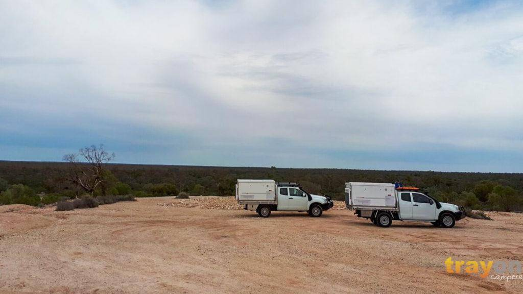 2x White Space Cab 2018 Isuzu Dmax 4x4 ute with Trayon Slide on Camper - Solar panel.