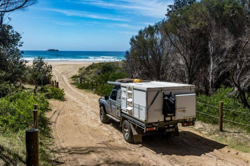 NSW North Coast 4WD Camping Guide Smokey Cape. Hat head south west rocks.