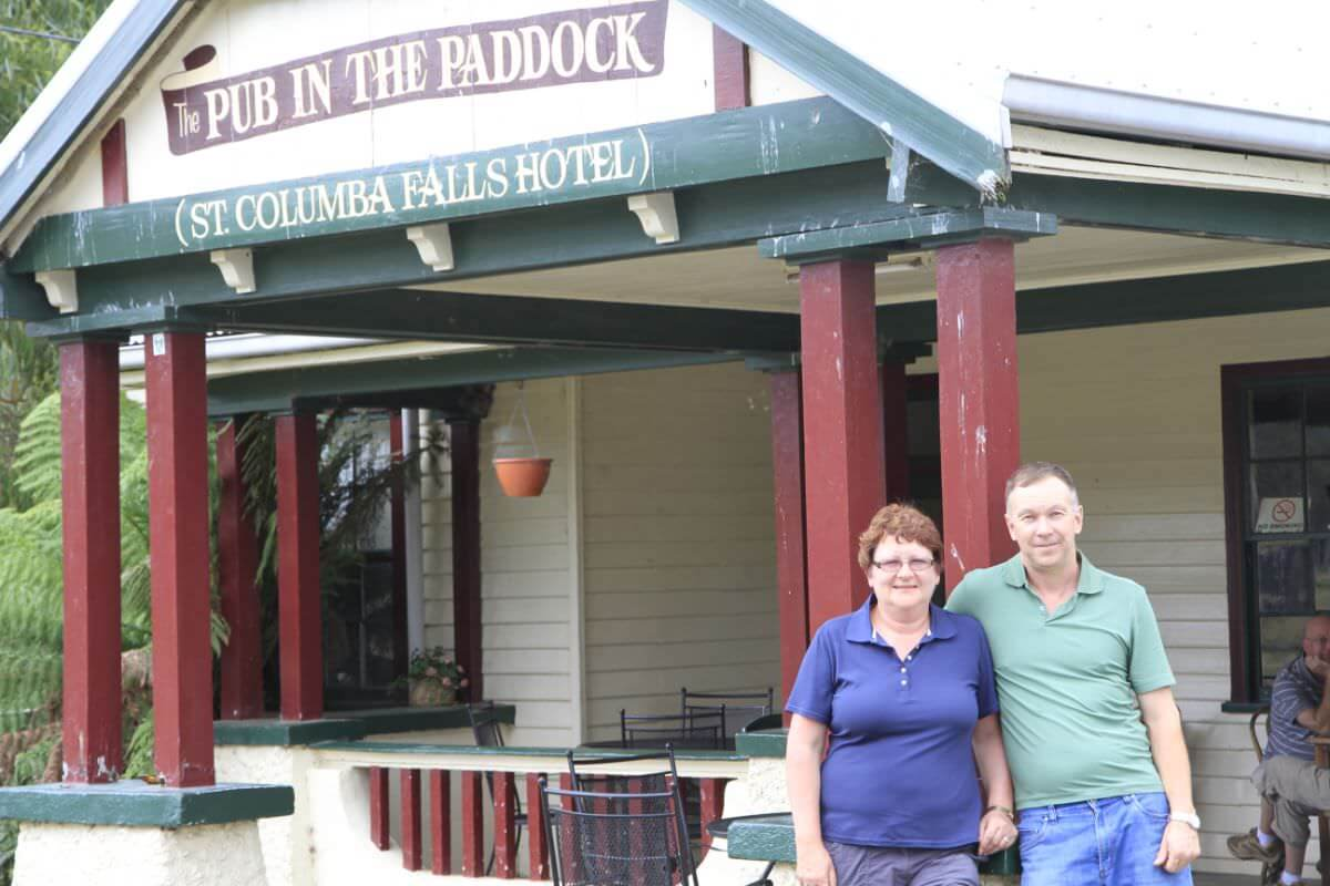 Licensed since 1880, the Pub in the Paddock is one of Tasmania's oldest country pubs. Literally sitting in the middle of a paddock in the Pyengana Valley.