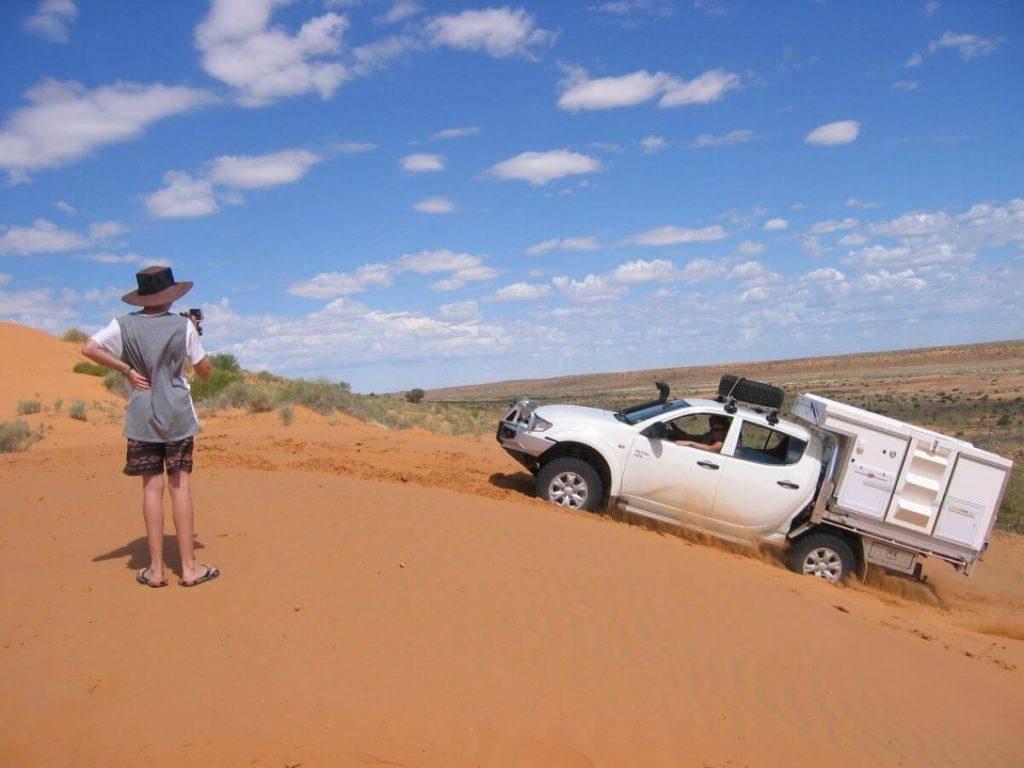 Mitsubishi Triton Dual Cab Off road 4x4 sand dune with Trayon Slide on Camper