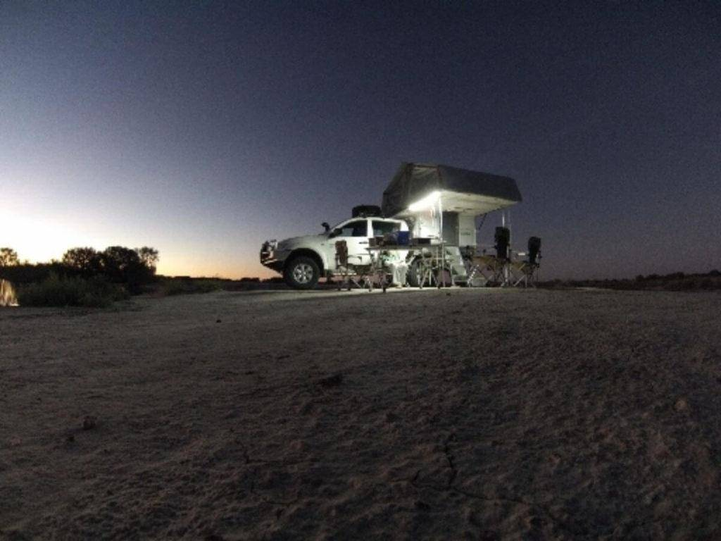 Mitsubishi Triton Dual Cab Off road 4x4 Camping in a Trayon Slide on Camper