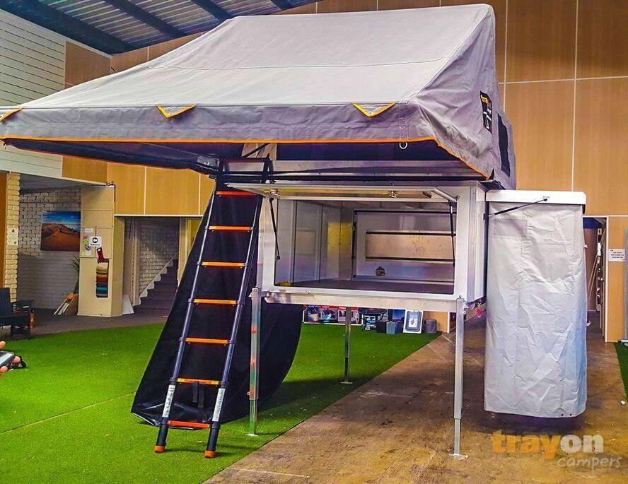 Traymate Camper - Budget slide on camper / aluminium ute canopy - camper trailer, roof top tent, outhouse, tradie aluminium ute canopy manufacturers