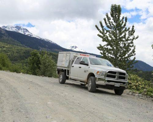 Dodge Ram Trayon Camper Dual Cab Gravel Road Canada