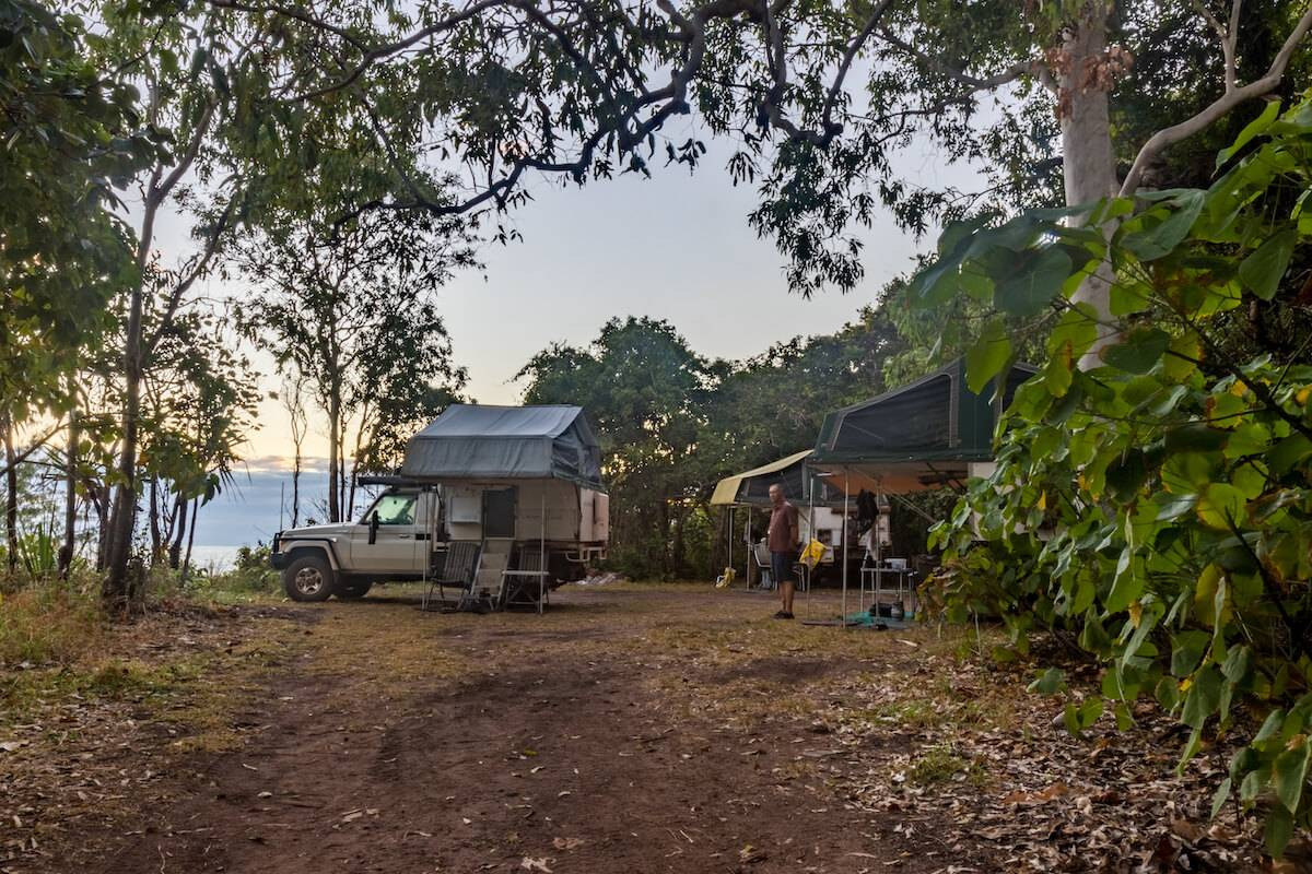 Turtle Beach Camping area