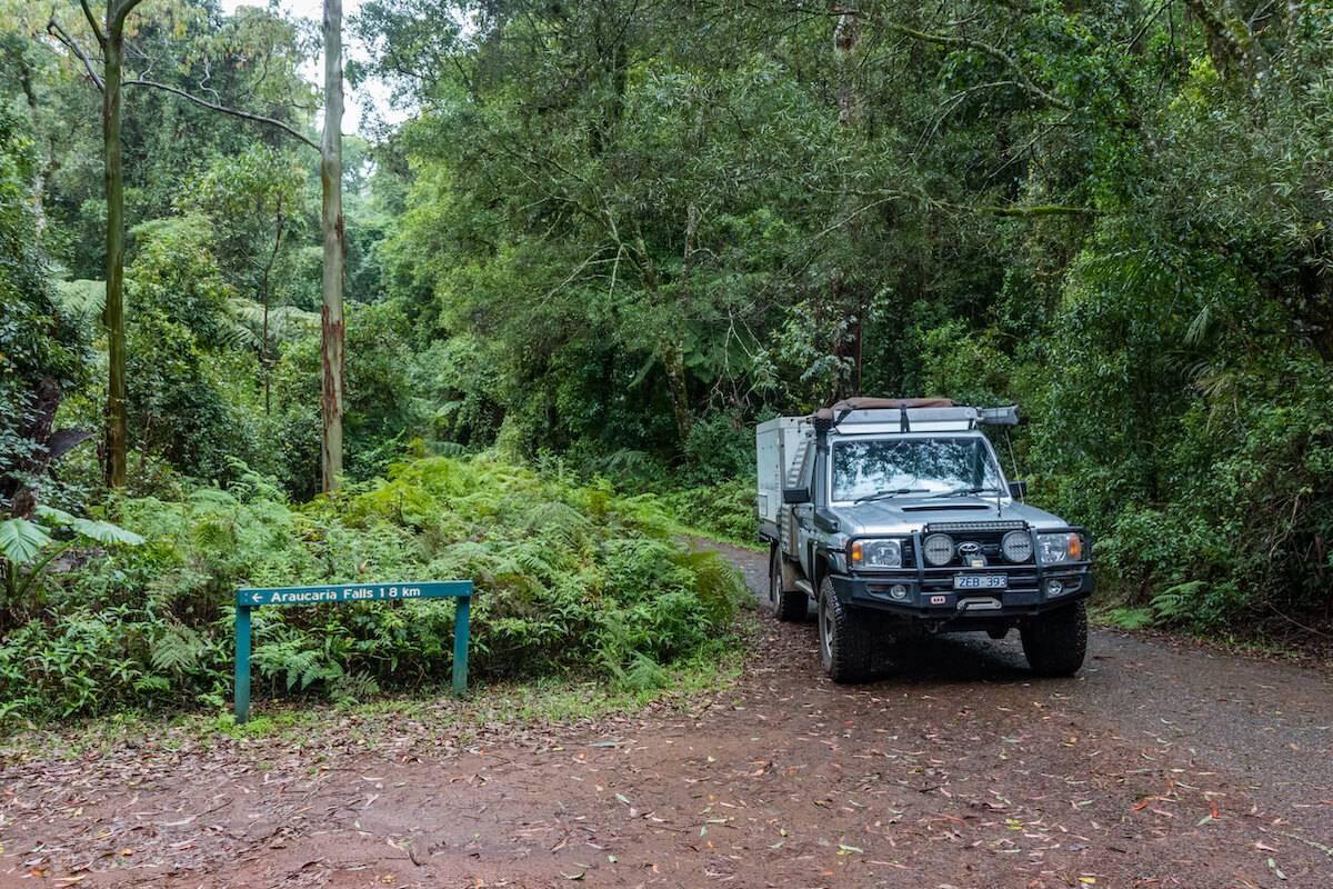 Main Range national Park toyota landcruiser