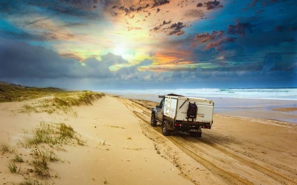 Moreton Island Eastern Beach Trayon Campers