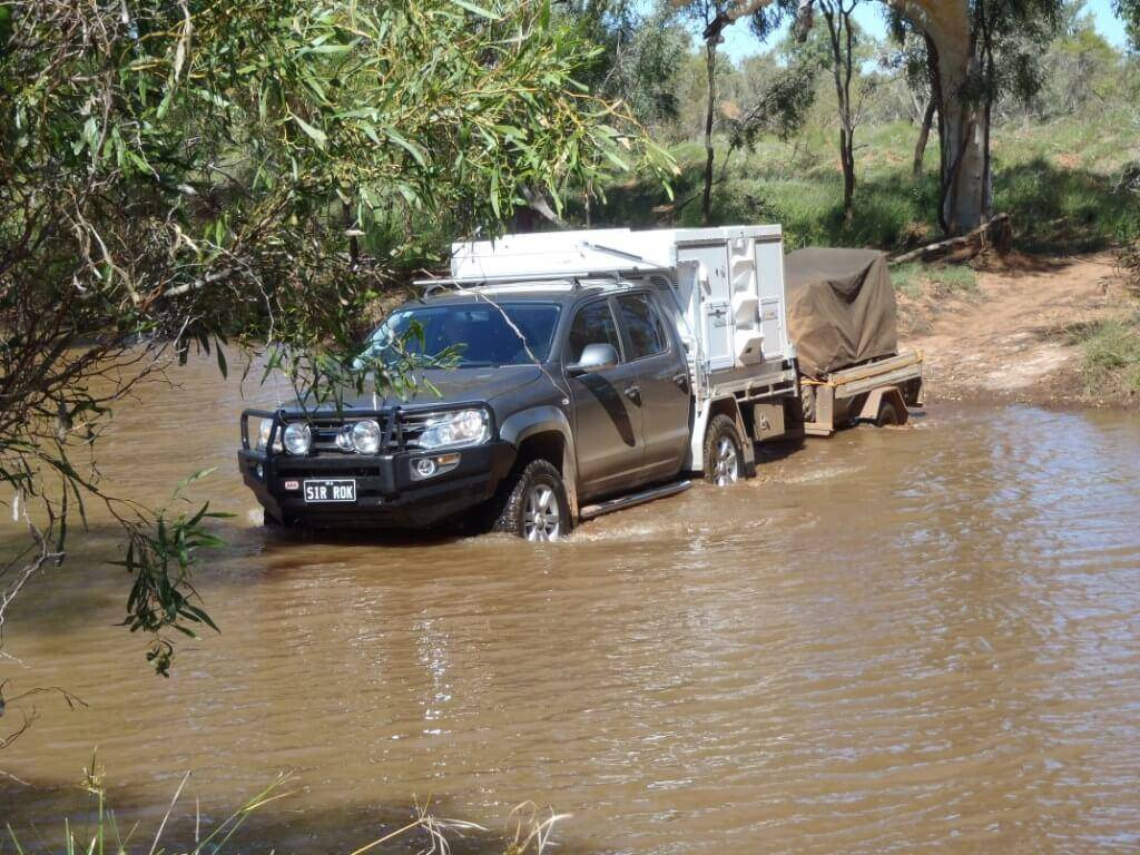 VW Amarok V6 River Crossing Camper