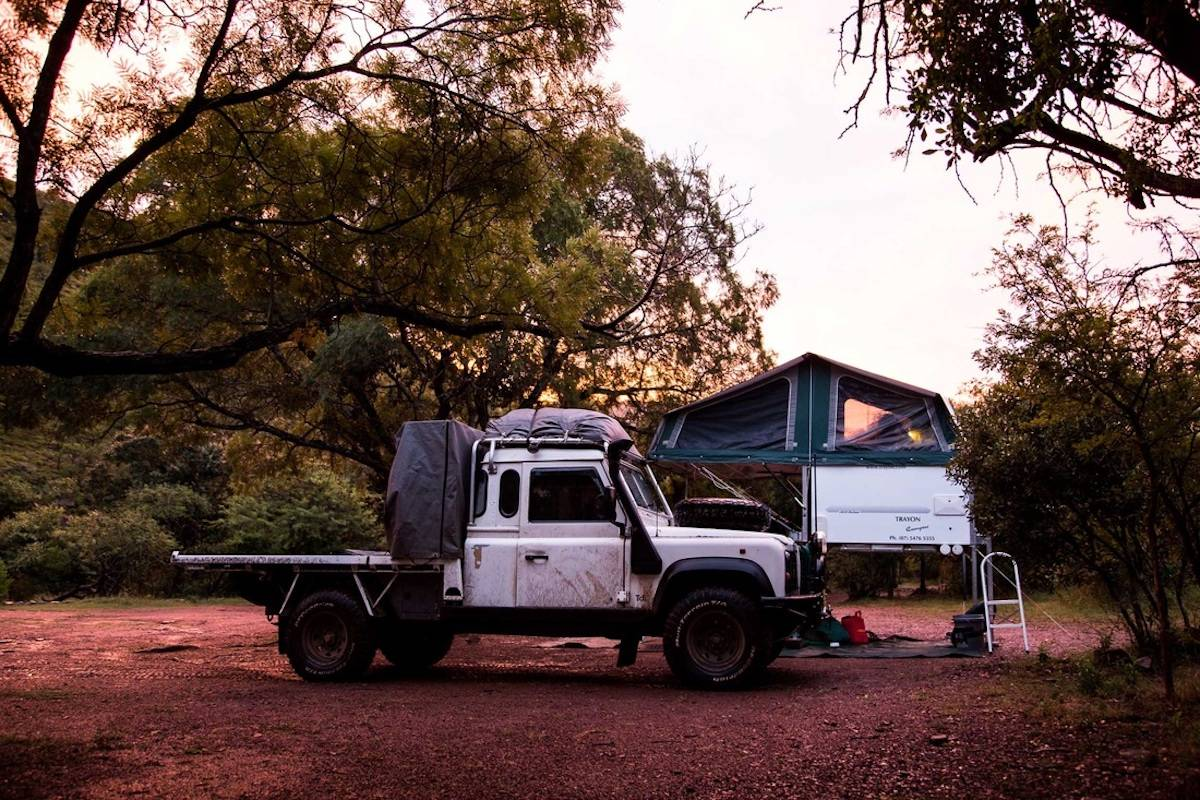 free standing ute camper landrover discovery