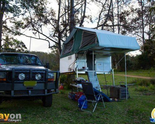 Ford F250 Single Cab Trayon Camper - Truck Bed Camper - Basecamp - Slide on camper setup