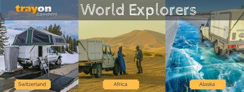 Trayon International Travel Photos - Slide on camper in Africa, Switzerland and Alaska