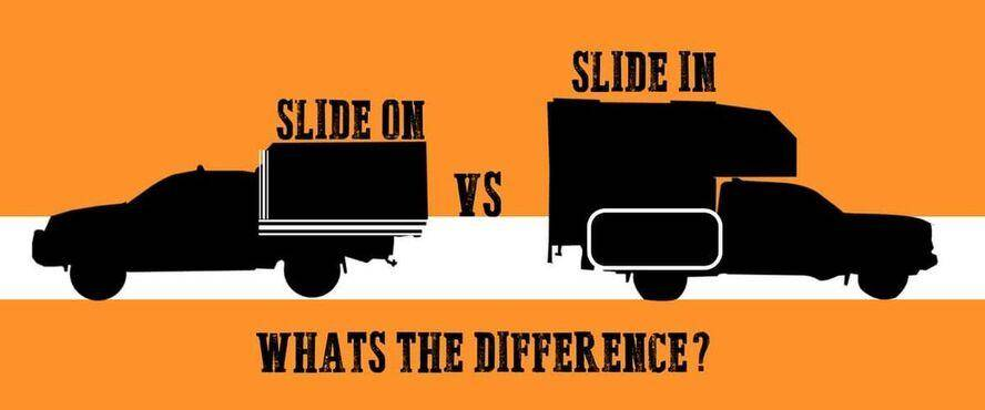 Image of Slide on vs slide in camper