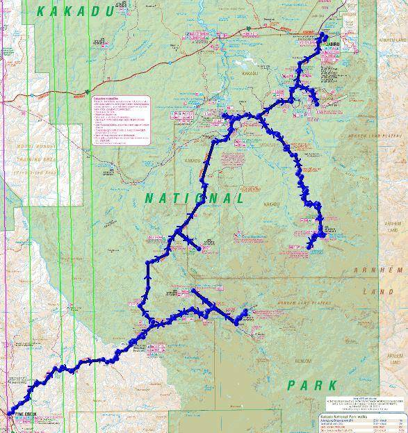 Kakadu National Park Map 4WD Camping Guide