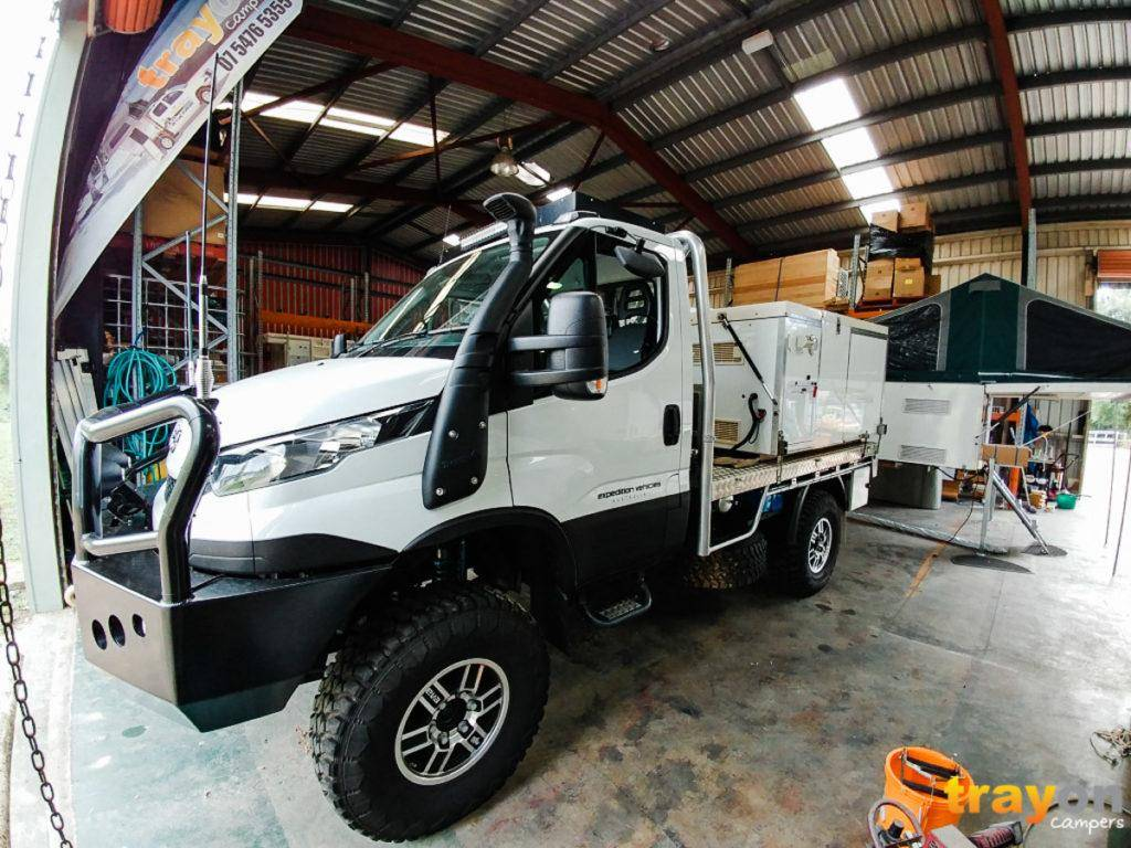 Single Cab Iveco Daily 4x4 Review with Trayon Slide on Camper in Factory