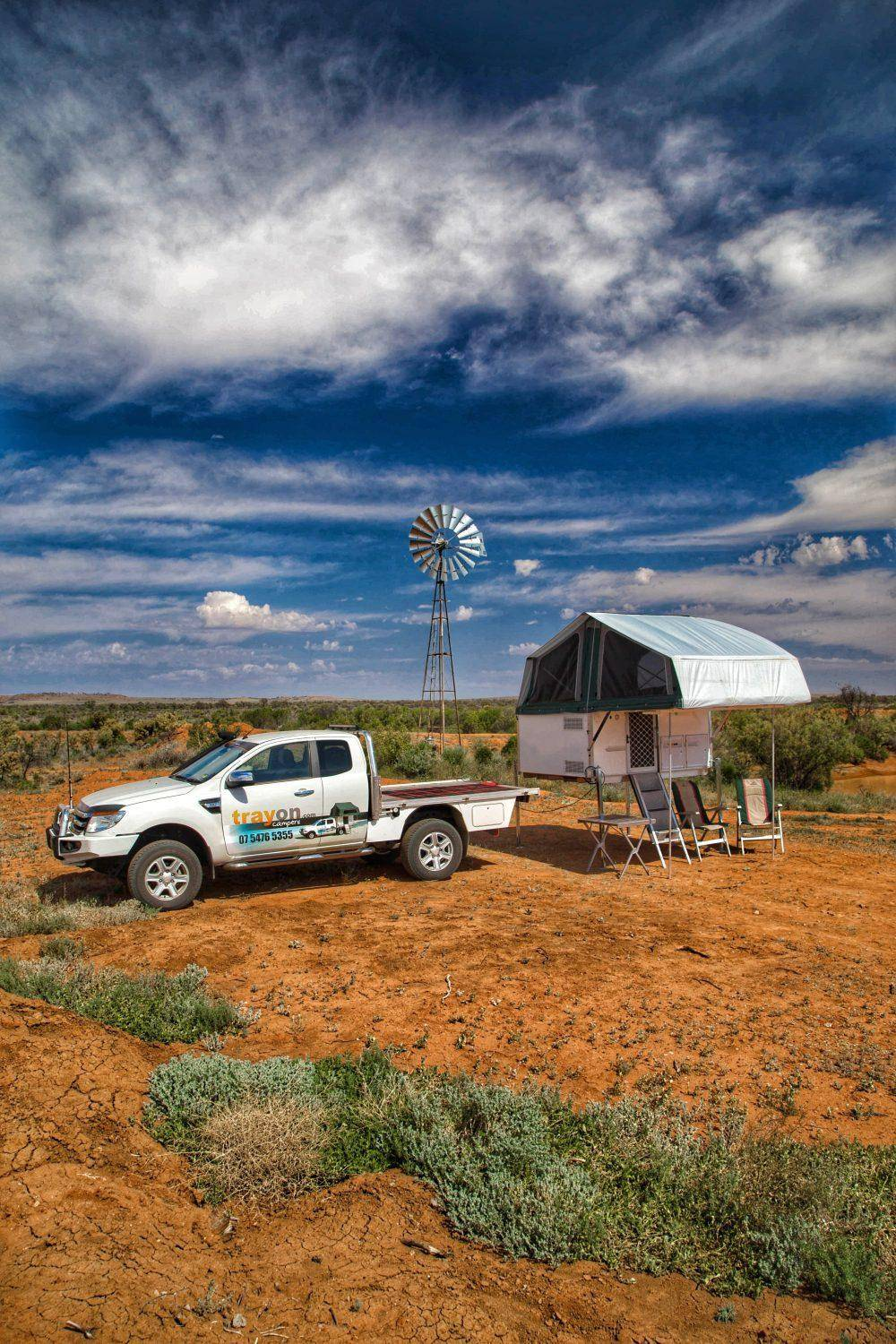 Free standing ute camper - Trayon campers windmill